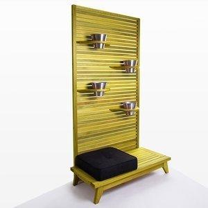 Jardineira Completa Zen (com almofada) Mão e Formão - Tecido 11078-91 Amarelo