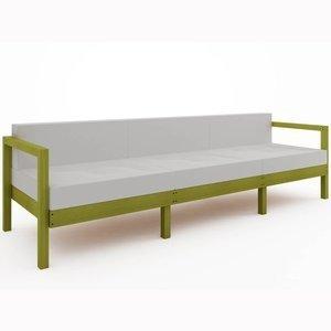 Sofá Lazy 3 lugares (com almofada) 01-237 Mão e Formão Amarelo