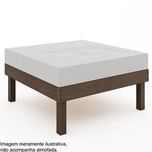 Módulo Puff Sofá Lazy (sem almofada)Mão e Formão Nogueira