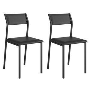 Conjunto 2 Cadeiras Luney Carraro Preto