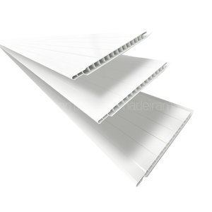 Forro de PVC Polifort 8mm x 20cm x 3m (m²) Branco Neve