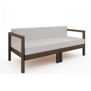 Sofá Componível Lazy - 2 Lugares (almofadas não acompanham o produto) Nogueira