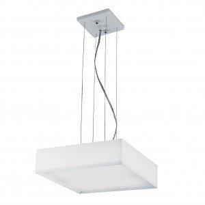 Pendente LED Quadrado 10W White Bronzearte 3000K Luz Amarela