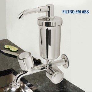 Torneira com Filtro para Cozinha de Parede Higiban Fly Cromado