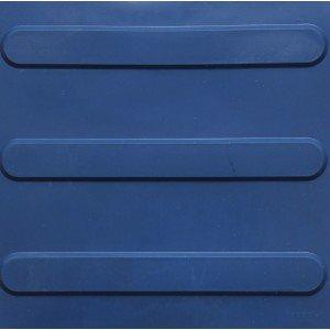 Piso de Borracha Tátil Direcional Isabela Revestimentos 3mm x 25cm x 25cm Azul