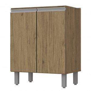 Balcão de Cozinha sem Tampo 2 Portas 60cm Integra Henn Rústico