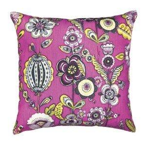 Capa para Almofada Floral Mart Collection 45cmx45cm Rosa