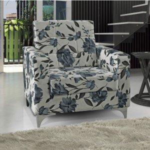 Poltrona Decorativa Thainá Matrix Azul