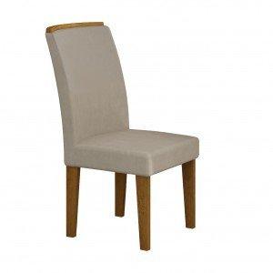 Conjunto 2 Cadeiras Lunara Rufato Imbuia/ Veludo Creme