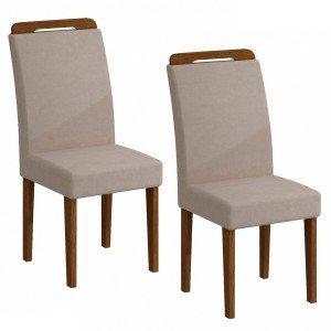 Conjunto 2 Cadeiras Athenas Rufato Ype/Veludo Creme