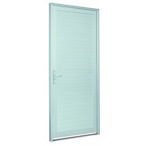 Porta de Alumínio Alumifort Sasazaki com 1 Folha 216cmx88cm Branco