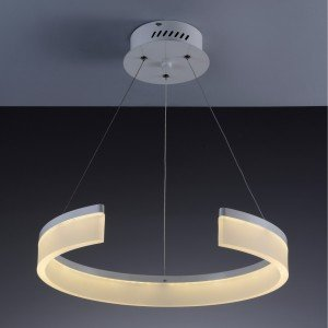 Pendente LED Redondo 48cm Half Startec Branco