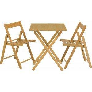 Conjunto Mesa e 2 Cadeiras Dobráveis Aconchego Tramontina Natural