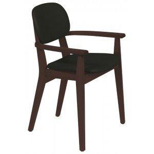 Cadeira Estofada com Braços London Tramontina Tabaco/Preto