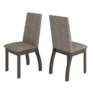 Conjunto 2 Cadeiras Slin Viero Choco/Canela