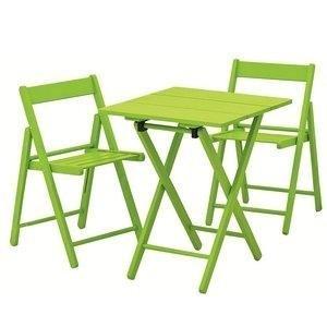 Conjunto Mesa e 2 Cadeiras Dobráveis Aconchego Tramontina Verde
