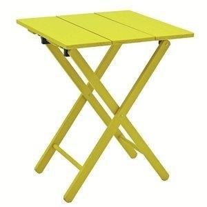 Mesa de Madeira Dobrável Aconchego Tramontina Amarelo