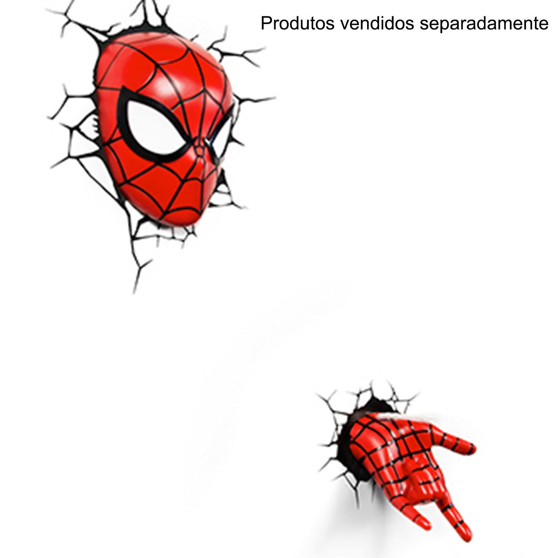 Arandela Startec Máscara Homem Aranha 3D Vermelho