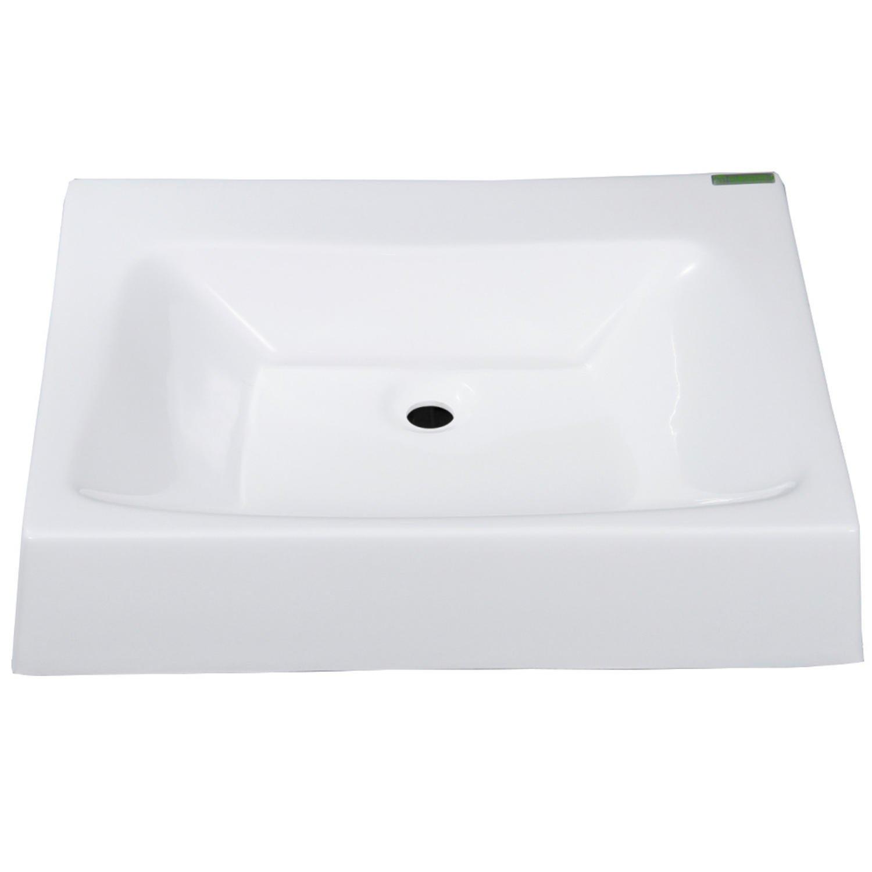 Cuba De Sobrepor Para Banheiro Siena Balcony Branco R$ 172 70 em  #4B6C40 1500x1500 Banheiro Branco Siena