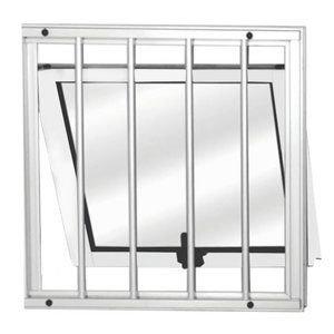 Maxim-Ar Alumínio 1 Folhas com Grade MGM Sólida 60cmx60cm Vidro Mini Boreal Branco