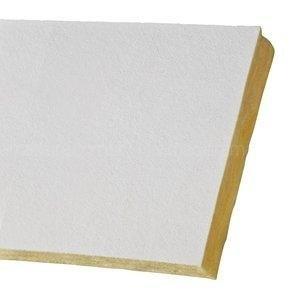 Forro em Lã de Vidro Isover Prisma Plus com Duplo Véu 25mm x 62,5cm x 62,5cm (Placa) Branco