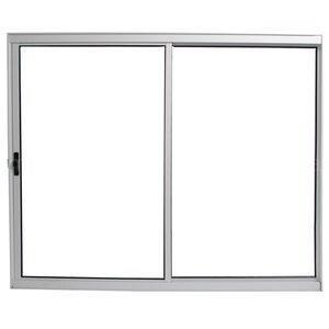 Janela Ebel em Alumínio 2 Folhas Móveis sem Bandeira 1,00mx1,20mx5,5cm Branca com Vidro Liso Incolor sem Grade Cromada