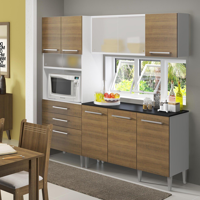 Cozinha Compacta L Elegance Beyato Com V Rios Desenhos Sobre