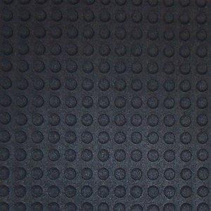 Piso de Borracha em Placa Pastilhada Isabela 4,5mm x 50 cm x 50cm (m²) Preto