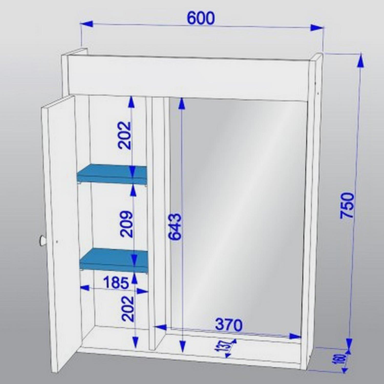 Armário Para Banheiro Aéreo Para Banheiro 1 Porta  R$ 180,90 em Mercado Livre -> Armario Banheiro Altura