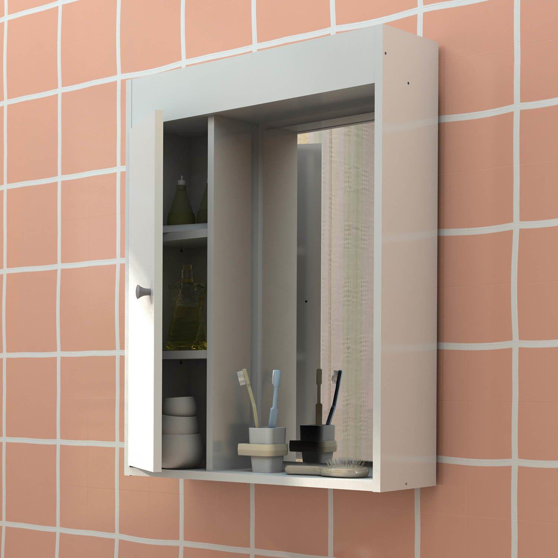 Armário Para Banheiro Aéreo Para Banheiro 1 Porta  R$ 180,90 em Mercado Livre -> Armario Aereo Banheiro Madeira